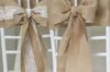 Rustic Burlap & Lace Chair Sash