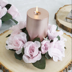 Silk Flower Candle Rings