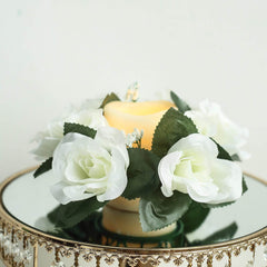 Artificial Flower Candle Rings