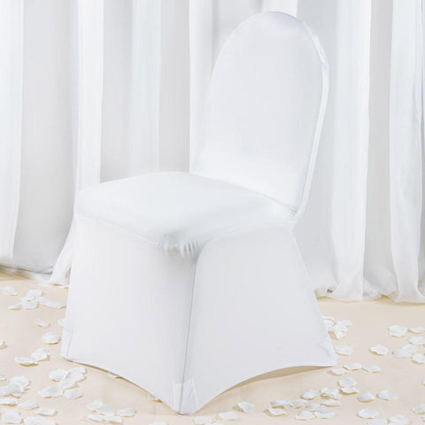 White Premium Spandex Chair Covers