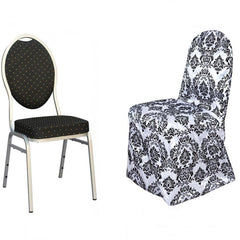Wedding Party Ruched Banquet Chair Covers