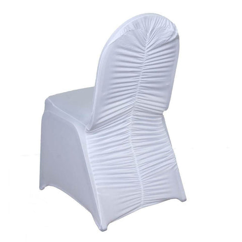 White Spandex Madrid Chair Covers
