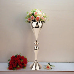 Tall Trumpet Glass Vases