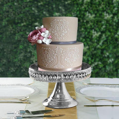 Crystal Cake Stand & Royal Crown Cake Topper