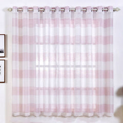Faux Linen Sheer Curtains