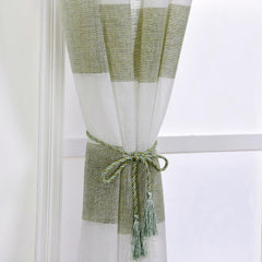 Sheer Cabana Stripe Linen Curtains
