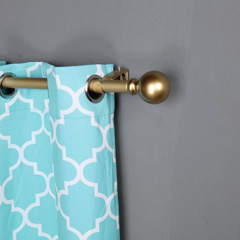 An Adjustable Curtain Rod with a Bronze Ball Finial