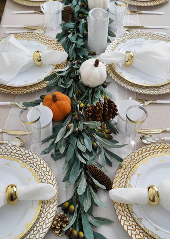fall dining table decor