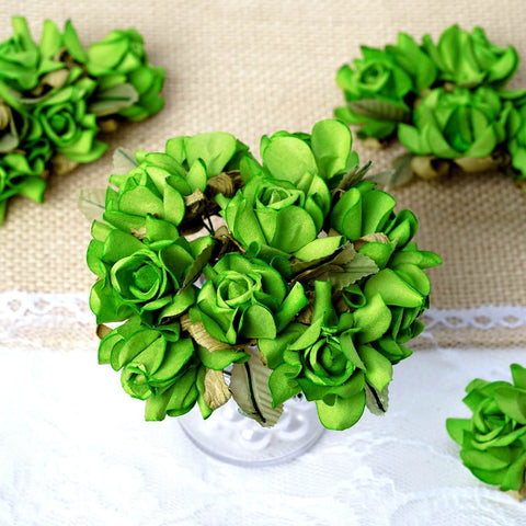 Green Paper Rose Flowers