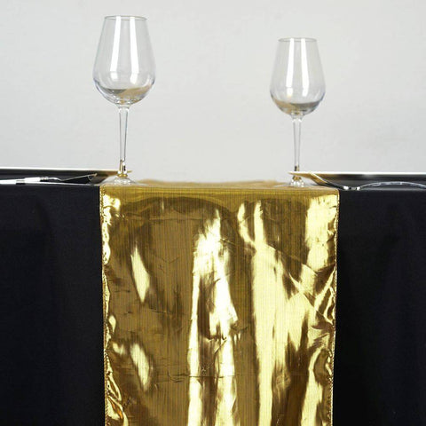 Metallic Polyester Gold Table Runner