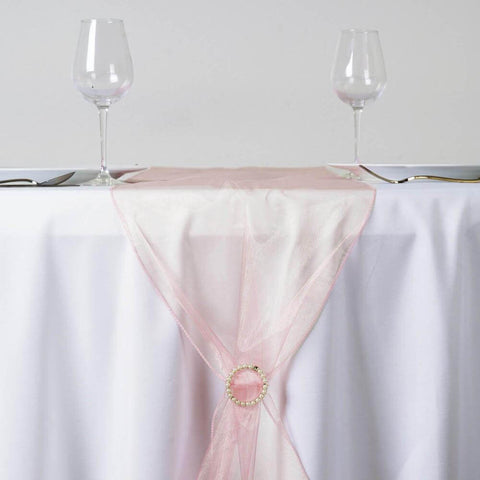 Blush Organza Table Runner