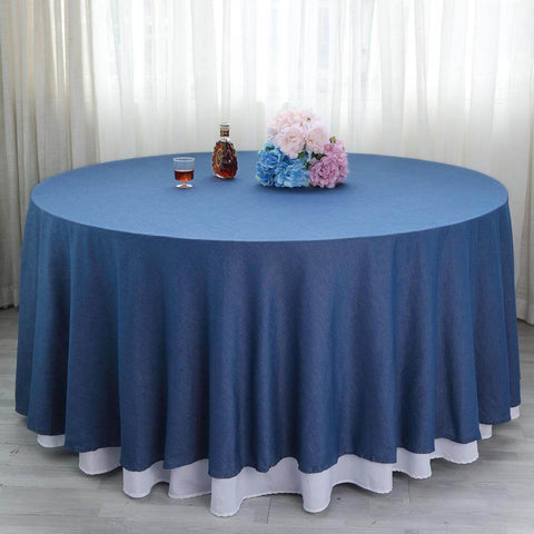 Round denim tablecloth