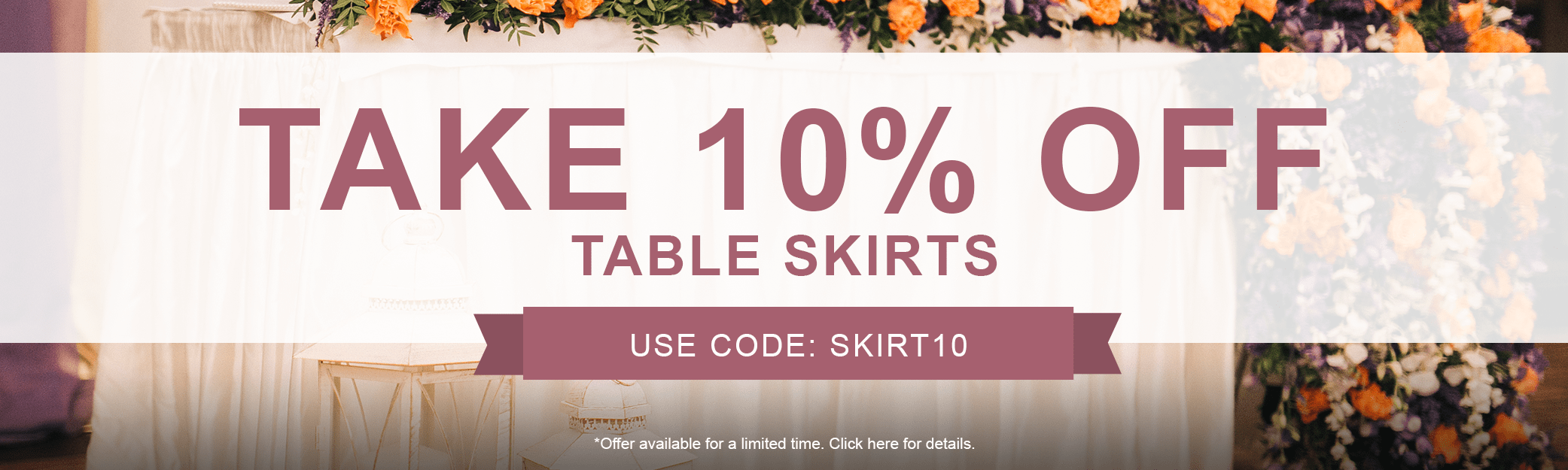 10% off Round Tablecloths