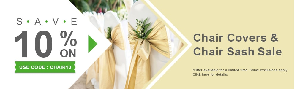 10 Percent Off Chair Covers & Sashes