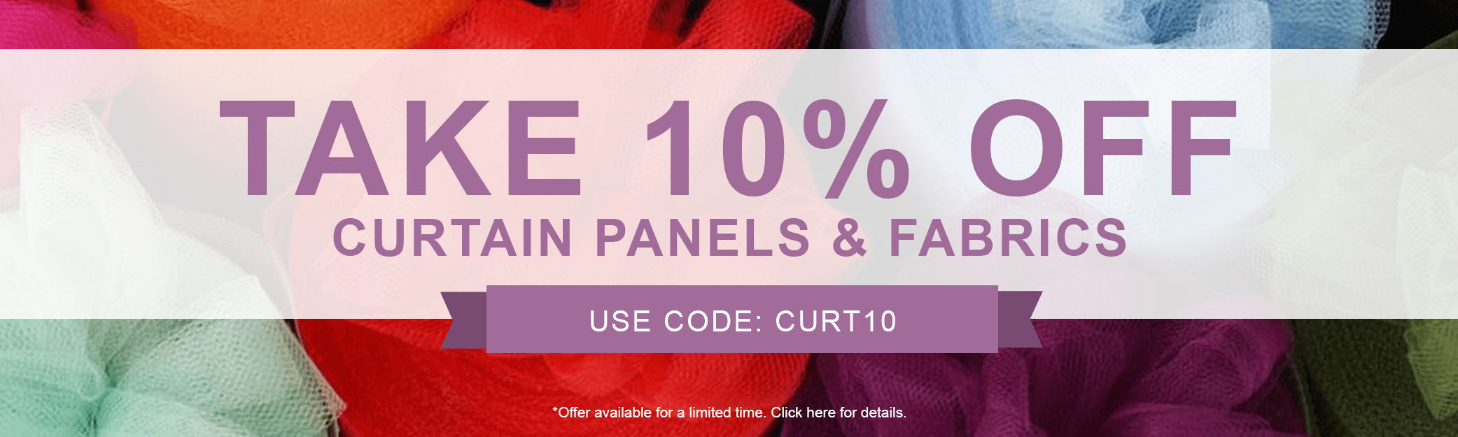 10% Off Curtains & Fabrics