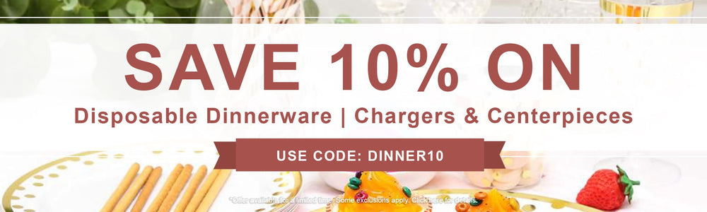 Disposable Dinnerware | Chargers & Centerpieces categories
