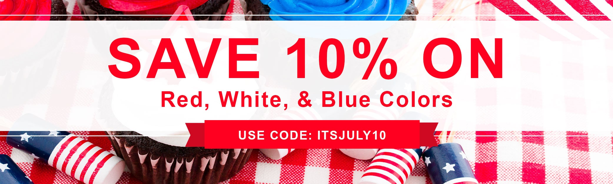 10% off Red, White, and Blue Colors Collection