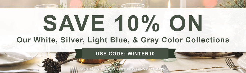 10% Off White, Silver, Light blue, Gray colors