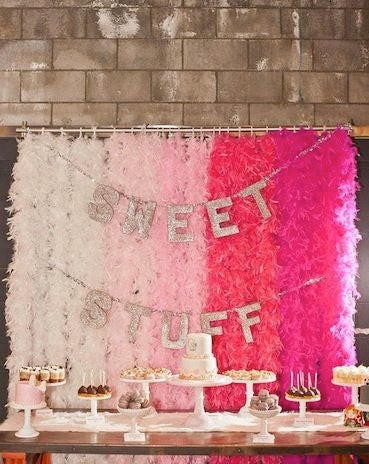 Feather boa backdrop