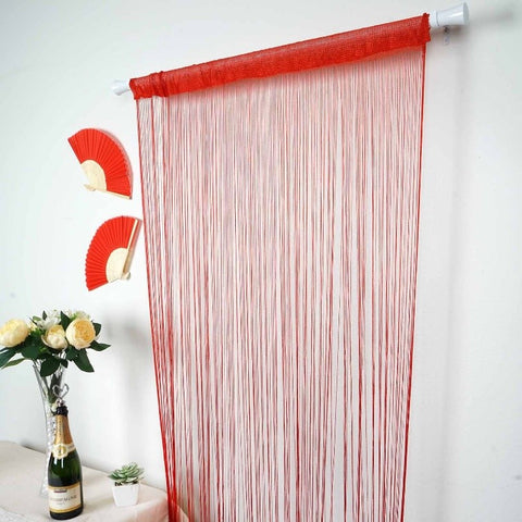 red tassel curtain