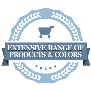 Extensive Range of Products & Colors