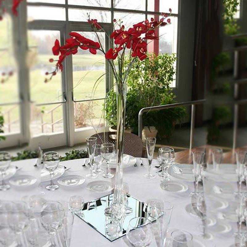 6 Pack 36 Clear Eiffel Tower Glass Flower Vase Table Centerpiece