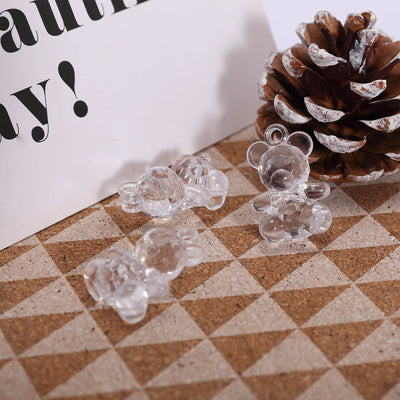 96 Pcs Clear Teddy Bear Acrylic Crystal Garland