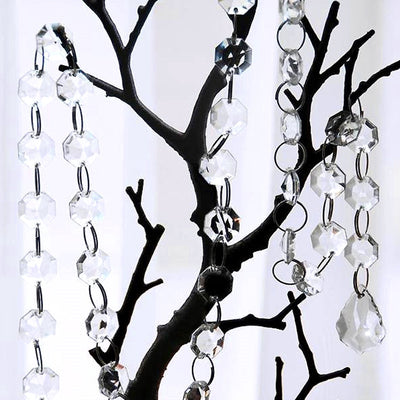3 FT Acrylic Crystal Garland Hanging Wedding Party Decoration Teardrop - Clear