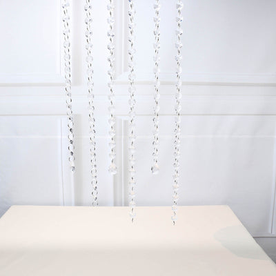 3 Ft Clear Acrylic Crystal Teardrop Beads Chain Garland Roll