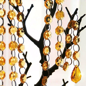 3 FT Acrylic Crystal Garland Hanging Wedding Party Decoration Teardrop - Topaz