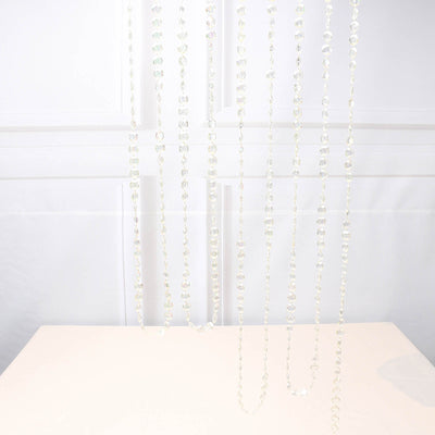 30 Ft Iridescent 10 MM Acrylic Crystal Diamond Chain Strand Bead By Roll