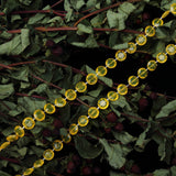 30 Ft Gold 10 MM Acrylic Crystal Diamond Chain Strand Bead By Roll