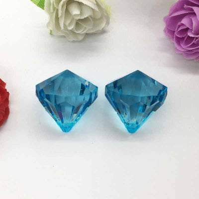 Chandelier Raindrop Crystals | 240 PCS | 20MM | Blue | Acrylic Teardrop Crystals