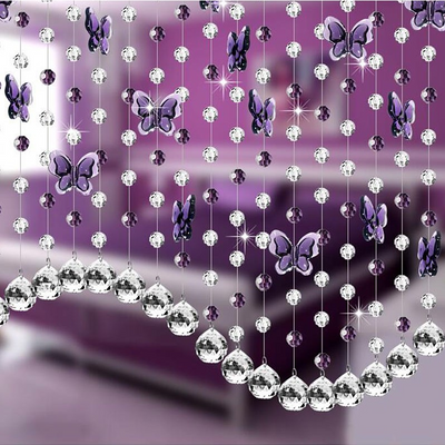240 PCS 20MM Crystal Garland Hanging Wedding Birthday Party Decoration Acrylic Crystal Raindrops - Purple