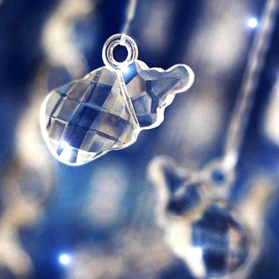 300 Pack | Clear | Feeding Bottle Acrylic Crystal Garland