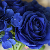 2 Pack | Royal Blue Rose & Hydrangea Artificial Silk Flowers Bouquet