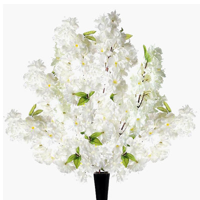 Artificial Peony Wedding Flower Bush Bouquet Centerpiece Decor - Cream