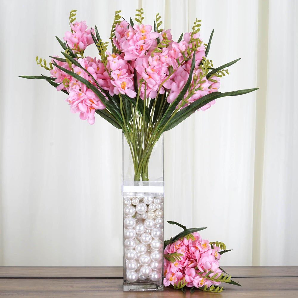 54 artificial freesia flower bushes wedding vase centerpiece decor 54 artificial freesia flower bushes wedding vase centerpiece decor pink izmirmasajfo