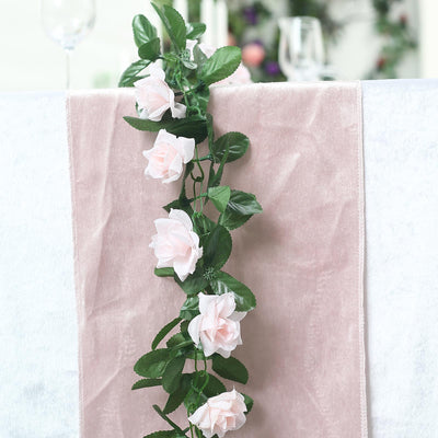 6FT Rose Chain Garland UV Protected Artificial Flower - Blush | Rose Gold