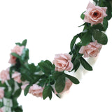 6 Ft Dusty Rose Chain Garland UV Protected Artificial Flower