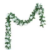 6 Ft Cream Rose Chain Garland UV Protected Artificial Flower