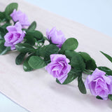 6 Ft Lavender Rose Chain Garland UV Protected Artificial Flower