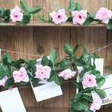 6FT Artificial Rose Silk Flower Chain Garland Wedding Arch Gazebo Decor - Pink