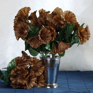 168 Wholesale Artificial Petunia Flowers Wedding Vase Centerpiece Floral Decor - Chocolate