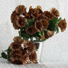 12 Bush 168 pcs Chocolate Artificial Petunia Flowers