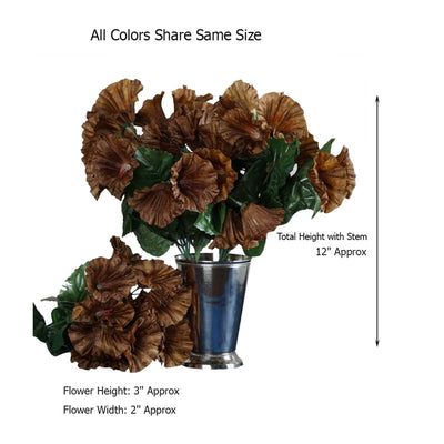 12 Bushes | 168 Pcs | Artificial Petunia Silk Flowers