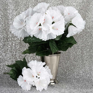 168 Wholesale Artificial Petunia Flowers Wedding Vase Centerpiece Floral Decor - White