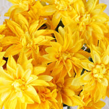 56 Artificial Dahlia Wedding Flower Bushes Vase Centerpiece Decor - Yellow