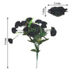 12 Bush 252 Pcs Black Artificial Mini Carnation Flowers - Clearance SALE
