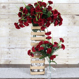 12 Bush 252 Pcs Burgundy Artificial Mini Carnation Flowers